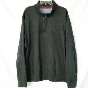 Orvis Sweatshirt Mens XXL 1/4 Zip with Snap